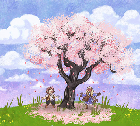 hello spring 485 Hello Spring printemps nature illustration